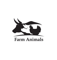 Farm animals label vector