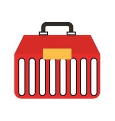 Fishing kit box icon vector