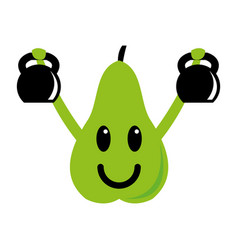 fitness pear vector image