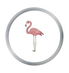 Flamingo icon in cartoon style isolated on white vector image