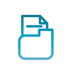 Folder file user interface blue gradient vector