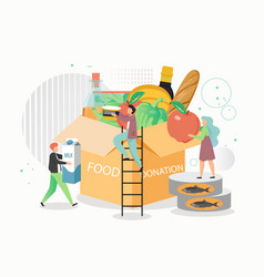 food donation box flat style design vector image
