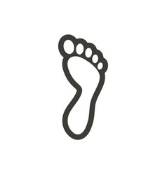 Foot palm icon design template isolated vector