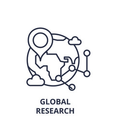 global research line icon concept global research vector image