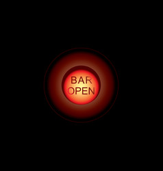 Glowing bar neon signs isolated on transparent vector