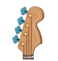 Head of the guitar on white background vector image
