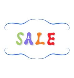 Inscription sale colorful letters vector