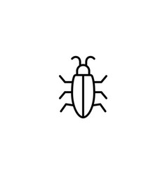 insect bug icon vector image