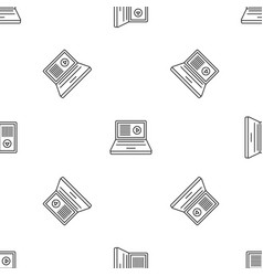 laptop web surf pattern seamless vector image