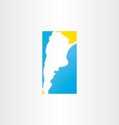 Logo argentina map icon design vector