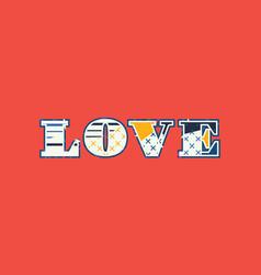 Love concept word art vector