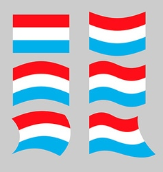 Luxembourg flag Set flags grand duchy various vector