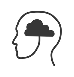 Man icon Human head design graphic vector image