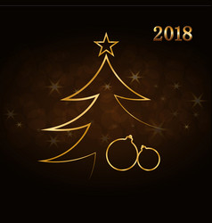 merry christmas celebration background gold xmas vector image