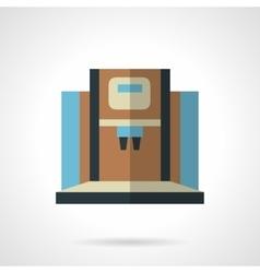 Modern coffee machine flat color icon vector