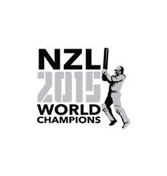 New Zealand NZ Cricket 2015 World Champions vector