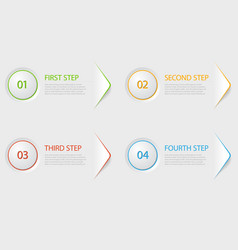 one two three four - flat progress icons for four vector image