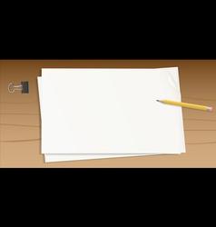 paper pencil overhead vector image