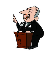 Politician cartoon vector