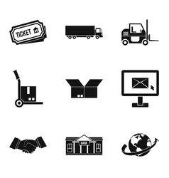 Procurement icons set simple style vector