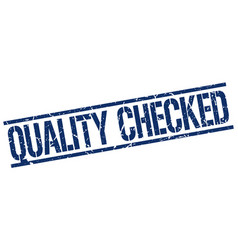 Quality checked stamp vector