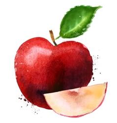 Red apple logo design template fruit vector