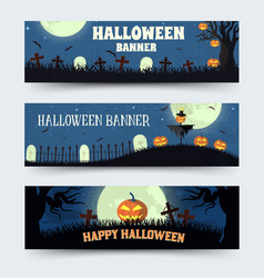 Retro halloween time background concept in style vector
