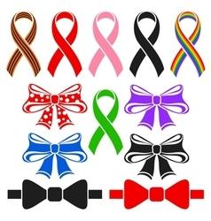Ribbons and bows vector image