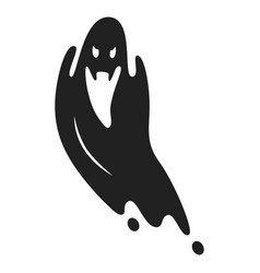 Scary ghost icon simple style vector