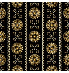 Seamless gold vintage ornamental pattern vector