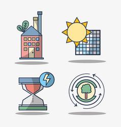 Set electronics elements to use energy vector