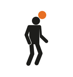 Simple heading football soccer sport figure symbol vector