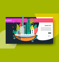 smart city modern technology online web page vector image