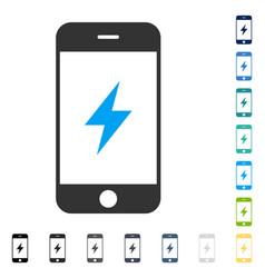 Smartphone electricity icon vector