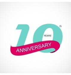 Template logo 10th anniversary vector
