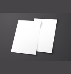 templates of two white flyers on a black vector image