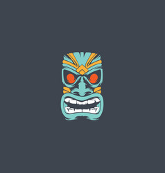 Tiki mask logo vector
