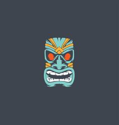 tiki mask logo vector image