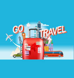 Vacation travelling concept go travel travel vector