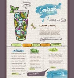 Website cocktail design template vector
