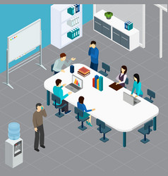 work meeting office isometric vector image