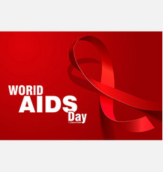 aids day vector image vector image