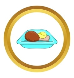 Airplane lunch icon vector image