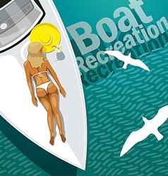 Boat Recreation vector image