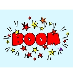 Comic book Cartoon - boom explosion Splash with vector image