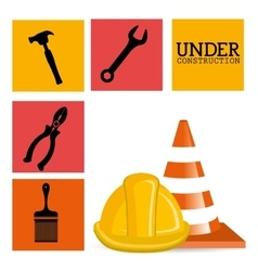 Construction and tools vector image vector image