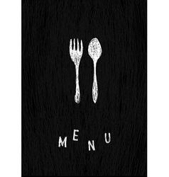 creative menu template vector image vector image