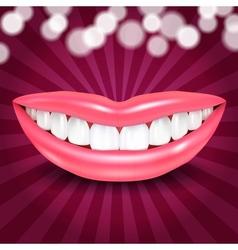 Disco Lips vector image vector image