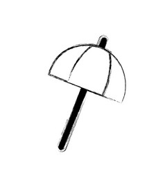 figure umbrella open style to weather protection vector image vector image