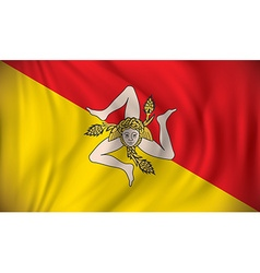 Flag of Sicily vector image
